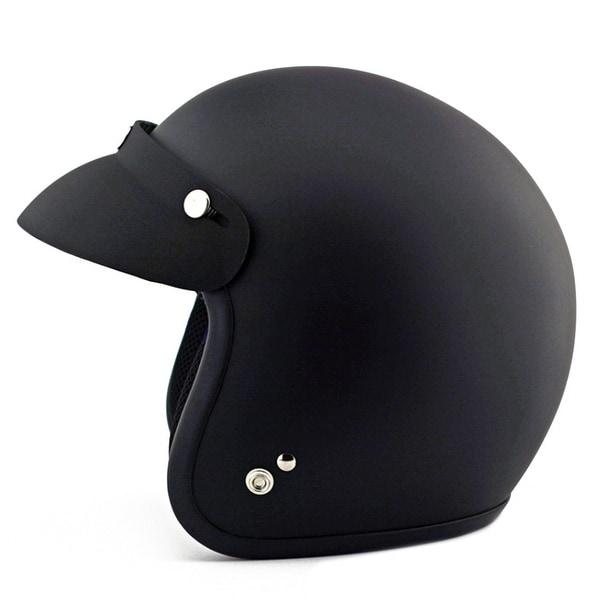 Motorcycle Motor Bike Scooter Safety Helmet NM-207 - Cool black - M
