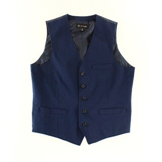 INC NEW Navy Blue Mens Size Small S Slim Fit Five-Button Waistcoat Vest