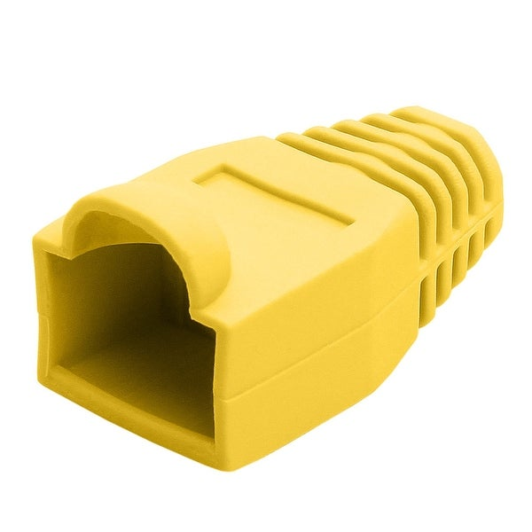 RJ45 Color Coded Strain Relief Boots 50pcs - Yellow