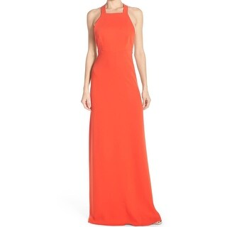 Jill Jill Stuart NEW Orange Womens Size 8 Straight-Neck Gown Dress