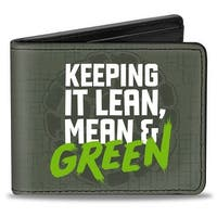 Keep It Lean, Mean & Green + Classic Teenage Mutant Ninja Turtles Group Bi-Fold Wallet - One Size Fits most