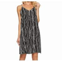 Vince Camuto Womens Medium V-Neck Printed Shift Dress