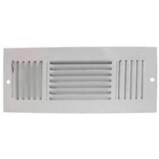 """Mintcraft SW03-12X4 3 Way Sidewall Registers, White, 12"""" x 4"""""""