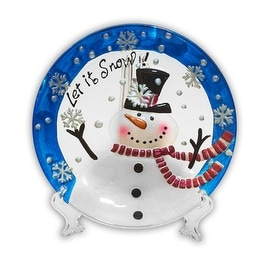 Holiday Decorative Snowman Plate