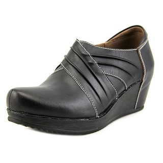 Spring Step Funtastic Women Round Toe Leather Black Bootie
