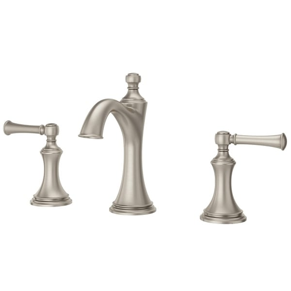 pfister lg49 tb0 tisbury 12 gpm widespread bathroom faucet pop up drain included - Pfister Bathroom Faucet