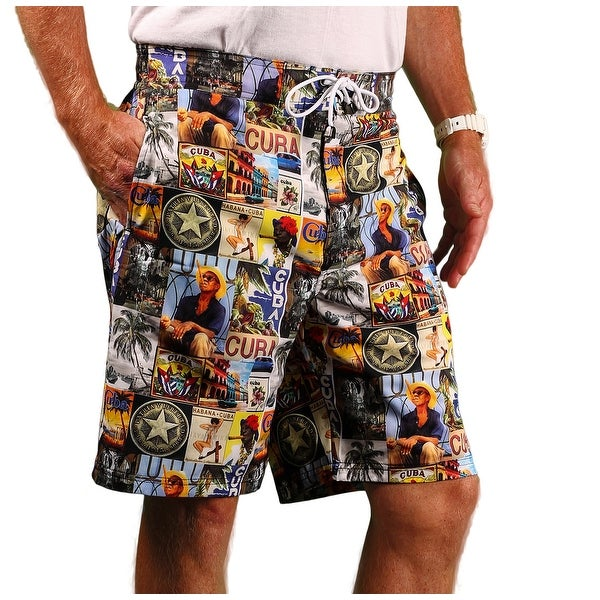 Blue Marlin Men's Stretch Print Board Shorts