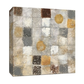 """PTM Images 9-147431  PTM Canvas Collection 12"""" x 12"""" - """"Metallic Mosaic II"""" Giclee Patterns and Designs Art Print on Canvas"""