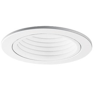 "Halo RE-4001WB Recessed Lighting Step Baffle With Trim Ring, 4"", White"