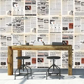 Link to Walplus Vintage Classic Newspaper Wall Sticker Decal DIY Art Home Decor Similar Items in Vinyl Wall Art