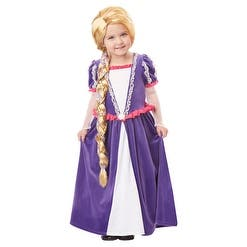 Girls Tangled Rapunzel Blonde Wig for Kids Disney Costume - Standard - One Size