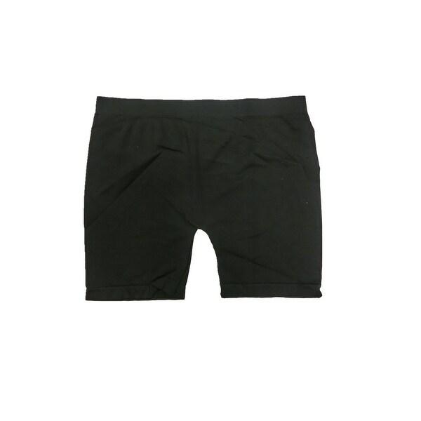 """Women's Seamless 3 Pack 12"""" Black Biker Yoga Short Leggings"""