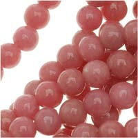 Pink Rhodonite *Grade A* 4mm Round Beads / 15.5 Inch Strand