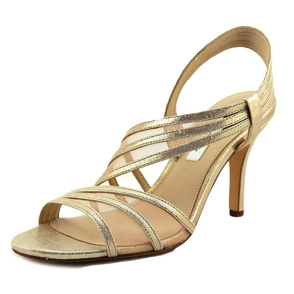 Nina Vitalia Women Open Toe Canvas Gold Sandals