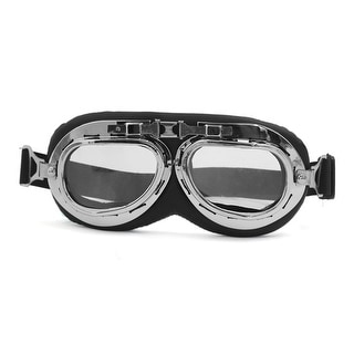 Unique Bargains Anti-UV Motorcycle Motocross Scooter Pilot Goggles Helmet Safety Sun Glasses