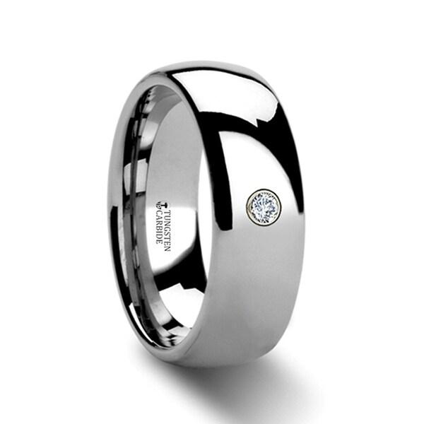 THORSTEN - BERKSHIRE Domed Diamond Tungsten Ring - 6mm