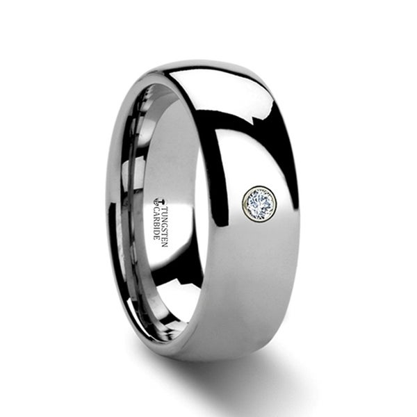 THORSTEN - BERKSHIRE Domed Diamond Tungsten Ring