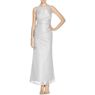 Laundry by Shelli Segal Womens Evening Dress Metallic Side Slit
