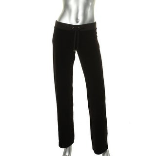 Juicy Couture Black Label Womens Velour Solid Lounge Pants - S
