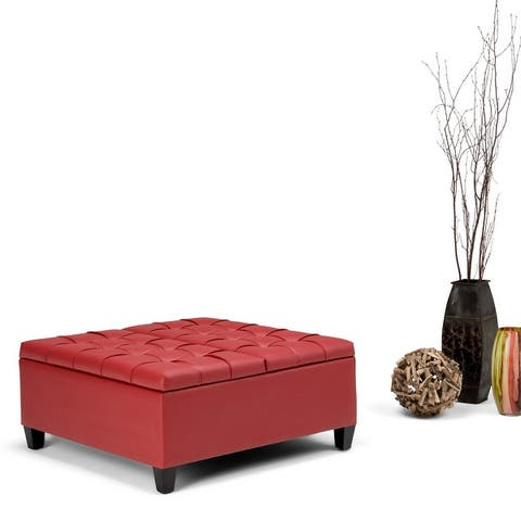 Wyndenhall Elliot 36 inch Wide Traditional Square Table Ottoman