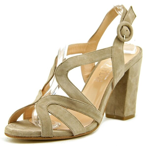 Alexandra 2218 Women Open-Toe Suede Tan Heels