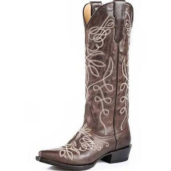 55653a0bec2 Stetson Western Boots Womens Zipper Vintage Brown