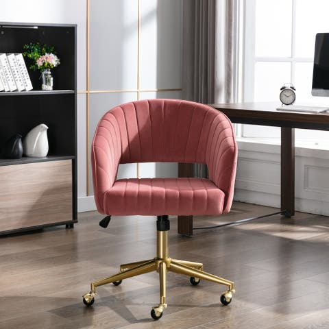 Home Office Task chair wheels, Leisure Retro Home Office Modern Swivel Accent Chair
