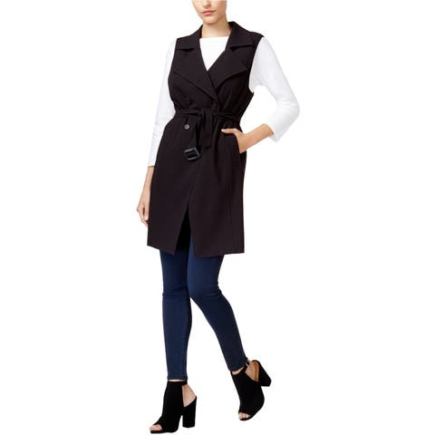 Kensie Womens Double-Breasted Sweater Vest