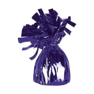 Club Pack of 12 Metallic Purple Party Balloon Weight Decorative Birthday Centerpieces 6 oz.