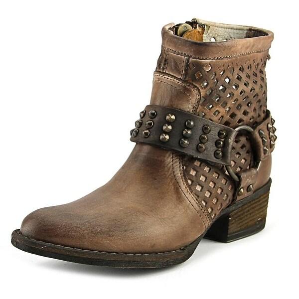 Very Volatile Mitch Women Round Toe Leather Combat Boot
