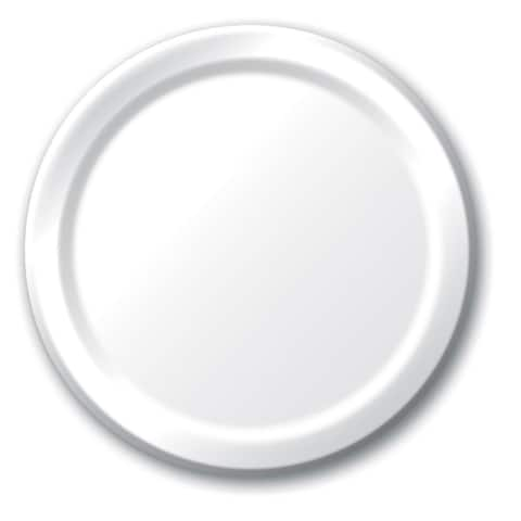 "Touch Of Color 24 Count 8 3/4"" Plates White - Multi"