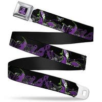 Dragon Maleficent Full Color Black Purple Maleficent & Diablo Black Roses Seatbelt Belt