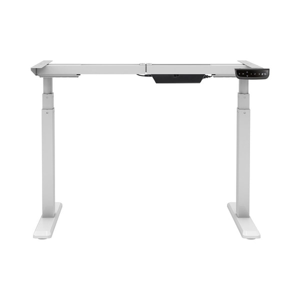 Monoprice Sit-Stand Dual-Motor Height Adjustable Table Desk Frame Electric White