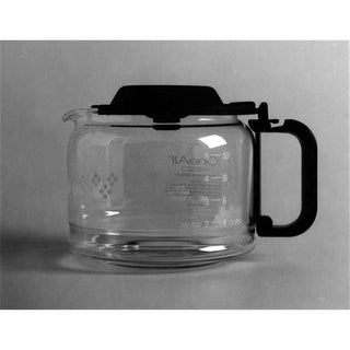 12 Cup Universal Replacement Coffee Carafe with Black Handle & Lid