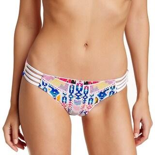 Red Carter NEW White Women's Size 10 Reversible Bikini Bottom Swimwear