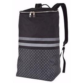New Gucci 365284 Black Grey Nylon DIAMANTE XL Tall Travel Rucksack Backpack