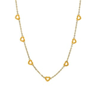 Lily Nily Girl's 7 Hearts Station Necklace