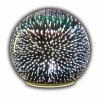 Sphere Accent Ball Lamp - Mercury Glass Starburst Ball LED Table Light - 8 in. x 8 in. x 8 in.