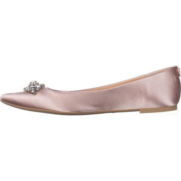 BADGLEY MISCHKA Womens HAVANNA Satin Pointed Toe Loafers - 7.5