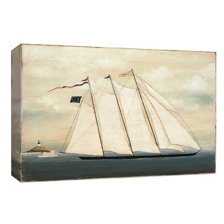 """PTM Images 9-153963  PTM Canvas Collection 8"""" x 10"""" - """"Tall Ship I"""" Giclee Nautical and Ocean Art Print on Canvas"""