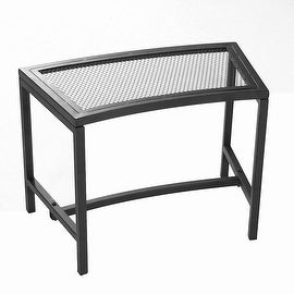 Sunnydaze Black Mesh Patio Fire Pit Bench - Choose 1, 2 or Set of 4 Benches (3 options available)