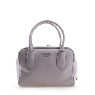 Prada Soft Calf Leather Inside Bag Tote Handbag - White - S