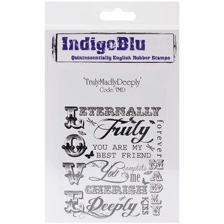 """IndigoBlu Cling Mounted Stamp 5""""X4""""-Truly, Madly, Deeply"""