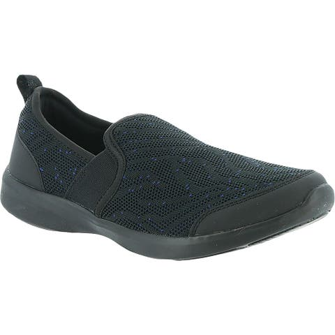 Vionic Womens Roza Walking Shoes Mesh Fitness - Black - 10 Wide (C,D,W)