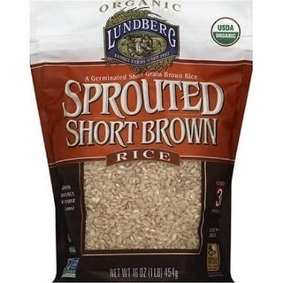 Lundberg Family Farms - Short Sprouted Brown Rice ( 6 - 16 oz bags)