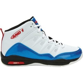 AND1 Children's Breakout Basketball Shoe White/French Blue/Red
