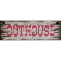 Cowboy Signs Wood Wall Hanging Western Rustic Outhouse White Red