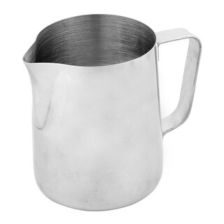 Unique BargainsHome Cafe Metal Milk Tea Coffee Pouring Kettle Pot Storage Container Silver Tone