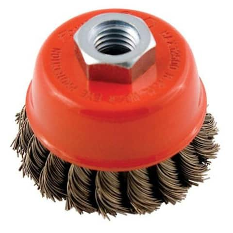 """Forney Industries 72757 Knotted Wire Cup Brush, 2-3/4"""""""