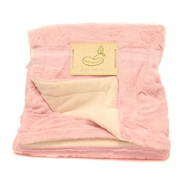 Beansprout Pink Lux Micro Mink Crib Throw Blanket - 30.0 in. x 36.0 in.